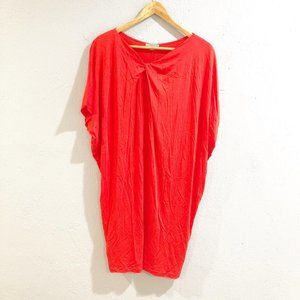 Cos | Orange Knot Neckline Draped Dolman Dress